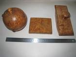 Три дореволюционных предмета из карельской берёзы., фото №2