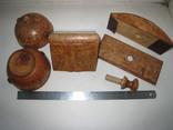 Три дореволюционных предмета из карельской берёзы., фото №4