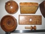 Три дореволюционных предмета из карельской берёзы., фото №10