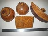 Три дореволюционных предмета из карельской берёзы., фото №11