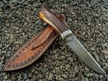 Нож, Ironwood + дамаск ХВГ, 9ХС, У10А, 10% 5ХНМ photo 2