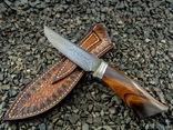Нож, Ironwood + дамаск ХВГ, 9ХС, У10А, 10% 5ХНМ photo 3