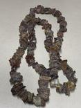 Лечебные бусы из не шлифованого янтаря 62.5 грамм, фото №2