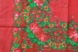 Шерстяной старинный платок №5, фото №7