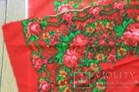 Шерстяной старинный платок №5, фото №9