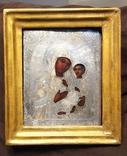 Тихвинская икона Божией Матери. Серебро 84 проба. 19 век. photo 1