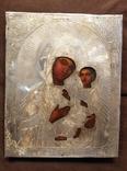 Тихвинская икона Божией Матери. Серебро 84 проба. 19 век. photo 2