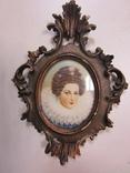 Портретная миниатюра Мария Медичи-королева Франции (1575-1642) photo 2