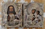 Венчальная пара. Господь Вседержитель и Смоленская икона Богородицы. photo 1