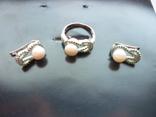 Набор - кольцо и серьги серебро 925 проба Украина, фото №11