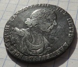 Полтина царя Петра I ,1718 ок.,без пряжки на плаще ,с фотографиями гурта.