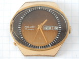 "Часы ""POLJOT 2628H"" USSR позолота AU10 (на ходу), рыбий глаз. photo 2"