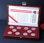 2 Шиллинга 1928-1937 Полный Набор В Коробке 10 Штук, Австрия