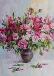 """""""Пионы"""", масляными красками, 70х50 см. Ю. Смаль, фото №2"""