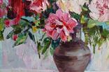 """""""Пионы"""", масляными красками, 70х50 см. Ю. Смаль, фото №8"""