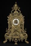 Каминные часы в бронзовом корпусе. Рококо. FHS. Высота 595 мм. 14 кг. Германия. (0159) photo 1