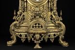Каминные часы в бронзовом корпусе. Рококо. FHS. Высота 595 мм. 14 кг. Германия. (0159) photo 2