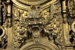 Каминные часы в бронзовом корпусе. Рококо. FHS. Высота 595 мм. 14 кг. Германия. (0159) photo 3