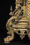 Каминные часы в бронзовом корпусе. Рококо. FHS. Высота 595 мм. 14 кг. Германия. (0159) photo 4