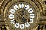 Каминные часы в бронзовом корпусе. Рококо. FHS. Высота 595 мм. 14 кг. Германия. (0159) photo 5