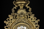 Каминные часы в бронзовом корпусе. Рококо. FHS. Высота 595 мм. 14 кг. Германия. (0159) photo 6