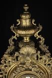 Каминные часы в бронзовом корпусе. Рококо. FHS. Высота 595 мм. 14 кг. Германия. (0159) photo 7