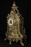 Каминные часы в бронзовом корпусе. Рококо. FHS. Высота 595 мм. 14 кг. Германия. (0159) photo 8