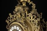 Каминные часы в бронзовом корпусе. Рококо. FHS. Высота 595 мм. 14 кг. Германия. (0159) photo 10