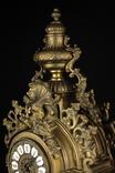 Каминные часы в бронзовом корпусе. Рококо. FHS. Высота 595 мм. 14 кг. Германия. (0159) photo 11