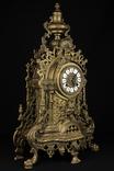 Каминные часы в бронзовом корпусе. Рококо. FHS. Высота 595 мм. 14 кг. Германия. (0159) photo 12
