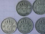 Шведские серебряные монеты, 26 шт. photo 5