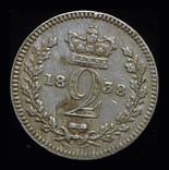 Великобритания 2 пенса 1838 аUnc серебро photo 1