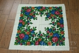 Шерстяной старинный платок №137, photo number 2