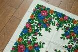 Шерстяной старинный платок №137, photo number 3