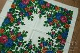 Шерстяной старинный платок №137, photo number 4