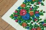 Шерстяной старинный платок №137, photo number 5