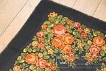 Шерстяной старинный платок №135, фото №3