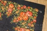 Шерстяной старинный платок №135, фото №4