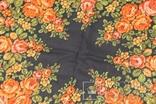 Шерстяной старинный платок №135, фото №7