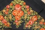 Шерстяной старинный платок №135, фото №10