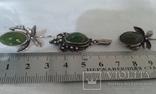 Комплект СССР серебро 925 Нефрит., фото №4