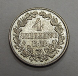 4 скиллинга, 1854 г Дания photo 1