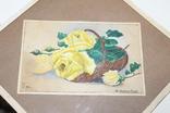 Квітковий натюрморт 29 року з підписом автора Т.Можаровская, фото №3