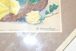 Квітковий натюрморт 29 року з підписом автора Т.Можаровская, фото №6