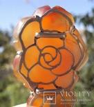 Брошь, роза из резного сердолика., фото №10
