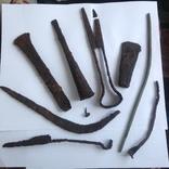 Клад инструмента КК (топор, плешня, зубило, серп, ножи, ножницы, заготовка, гвоздик)