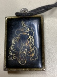 Подвеска в металической рамке на цепочке, фото №2