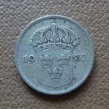 10 эре 1937 Швеция серебро (П.6.28), фото №2