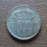 10 эре 1941 UNC  Швеция серебро    (П.6.30), фото №2