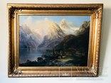 "Картина ""Горная река"" худ. Кoken Edmund 1814-1872 г"